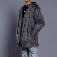 Load image into Gallery viewer, Plain Faux Fur Coat