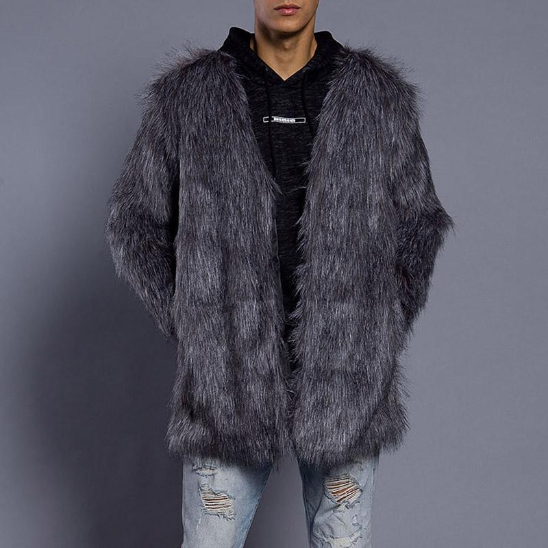 Plain Faux Fur Coat