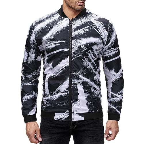 Doodle Printed Bomber Jackets
