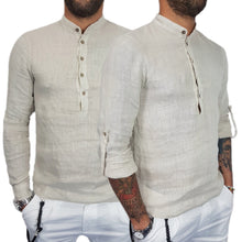 Load image into Gallery viewer, Hawaiian Long Sleeve Button Up Shirt