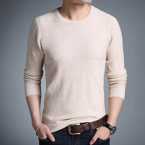 Solid Color Slim Sweater