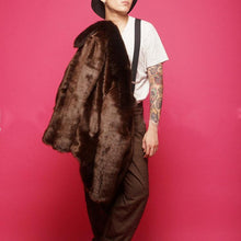Load image into Gallery viewer, Mens Faux Mink Fur   Outerwear