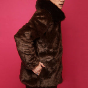 Mens Faux Mink Fur   Outerwear