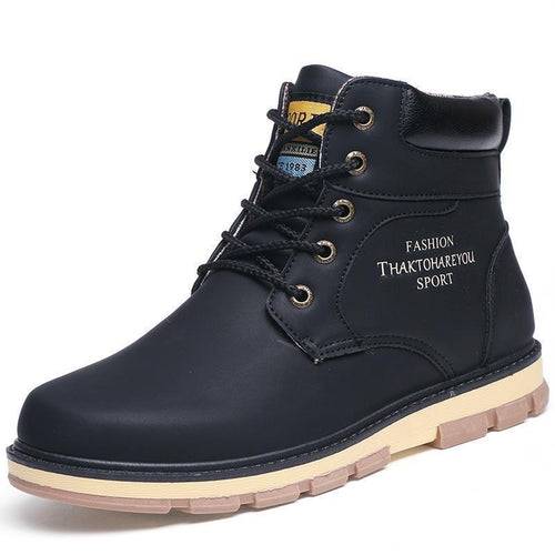 Pu Leather Wear Resisting Casual Fashion Men Boots