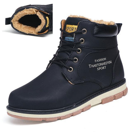 High Quality Pu Leather Waterproof Casual Warm Boots