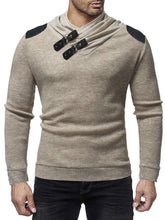 Load image into Gallery viewer, Fashion Casual Gored Knitting Long Sleeves Round Collar Slim Plain Sweater