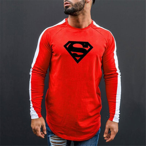 Fitness Leisure Fashion Contrast Color Long Sleeve T-Shirt