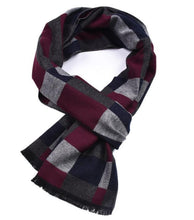 Load image into Gallery viewer, Autumn and winter color woven plaid thickening men's scarf