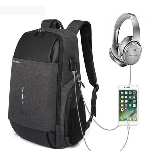 Men's Oxford cloth with usb backpack