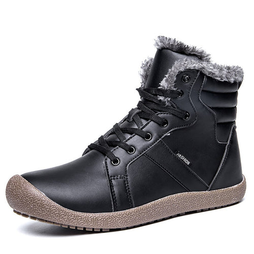 Medium Tube Non-Slip Medium Tube Snow Leather Boots