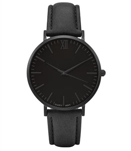 Simple Mens Fashion Daily Watch Leather Steel