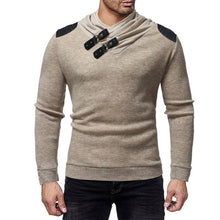 Load image into Gallery viewer, Solid Color Buckle Stitching Slim Sweater