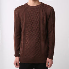 Load image into Gallery viewer, Men's solid color pullover round neck fashion sweater