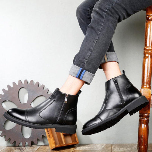 Casual Fashion Chelsea boots warm Martin boots