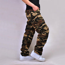 Load image into Gallery viewer, Cotton multi-pocket loose camouflage pants