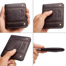 Load image into Gallery viewer, Thin leather men's short wallet