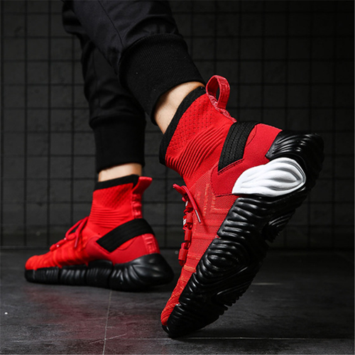 Men's slip breathable high-top sneakers