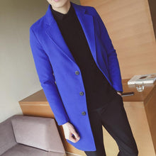 Load image into Gallery viewer, Chic Fashion Lapel Plain Shoulder Padding Long Sleeves Long Coat