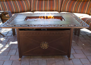 Bronze Ornate Fire Pit Table