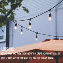 "Load image into Gallery viewer, LED Outdoor Waterproof ""Edison"" Style Globe String Lights with Bulbs"