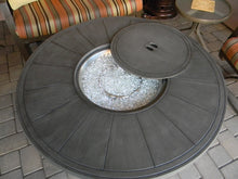 Load image into Gallery viewer, Brushed Wood-Look Round Propane Fire Pit