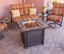 Load image into Gallery viewer, Slate top square propane fire pit