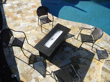 Load image into Gallery viewer, Black Mocha Aluminum Contemporary Fire Pit