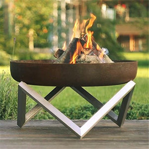 Curonian Z630 Memel Solid Steel Fire Pit Memel - Medium