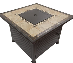Marble top tall fire pit