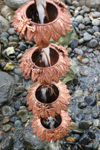 Sunflower Copper Rain Chain with Honey Bees #SU-43
