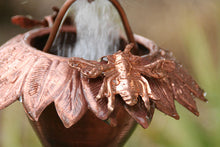 Load image into Gallery viewer, Sunflower Copper Rain Chain with Honey Bees #SU-43