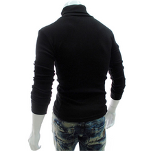Load image into Gallery viewer, Men's Plain Casual High Neck Sweater