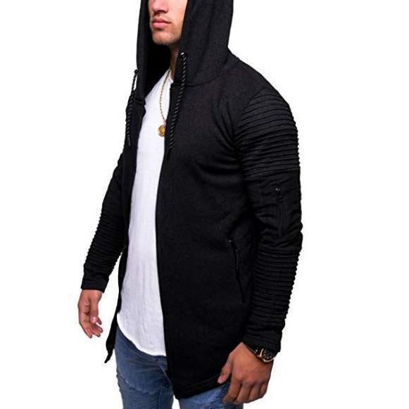 Fashion Mens Arm Zipper Cardigan Sweater