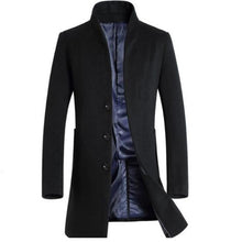 Load image into Gallery viewer, Man Long Trench Coat Wool Coat