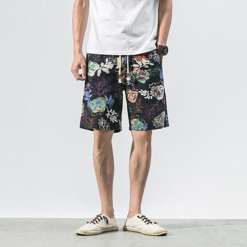 Printed Cotton Shorts 04