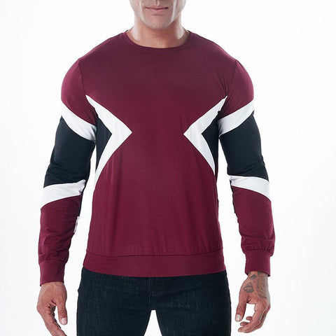 90% Cotton Mens Fashion Long Sleeve Tshirt