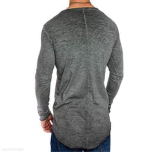 Load image into Gallery viewer, Fashion Youth Casual Loose Plain Long Sleeve Men Top