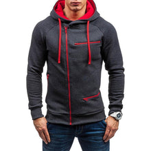 Load image into Gallery viewer, Men's Solid Color Sports And Leisure Cardigan Hoodie