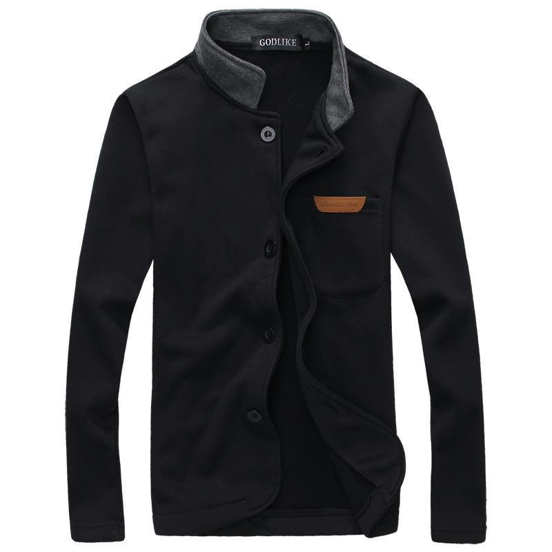 Stand-Up Collar Mens Cotton Jacket