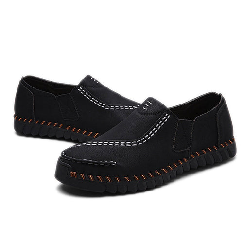 Men Retro Hand Stitching Comfortable Slip Resistant Casual Loafers