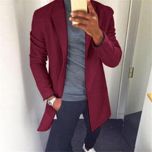 Load image into Gallery viewer, Gentle Fashion Youth Slim Plain V Collar Long Sleeve Men Suit Outerwear