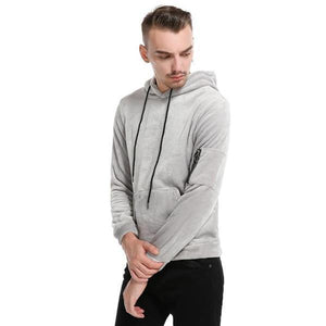 Casual Fashion Youth Sport Loose Plain Long Sleeve Hoodie