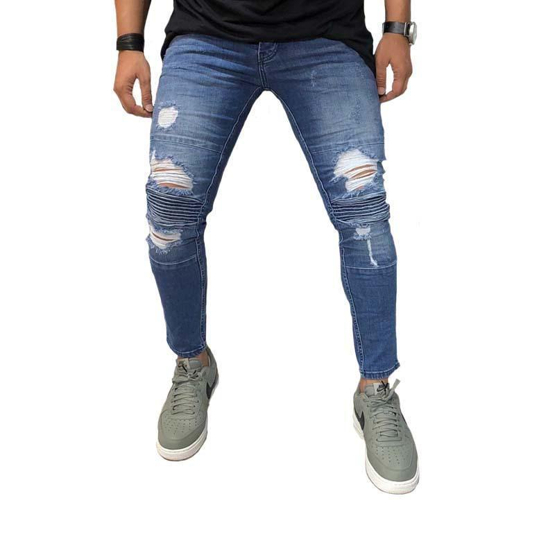 Fashion Street Blue Hole Jeans