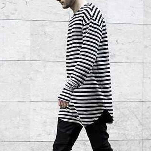 Mens Stripe Long Sleeve T-Shirt