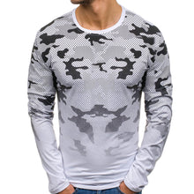 Load image into Gallery viewer, Fashion Round Collar Printed Slim Shirt