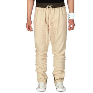 Casual Stylish Solid Color Elastic Waist Men Pants