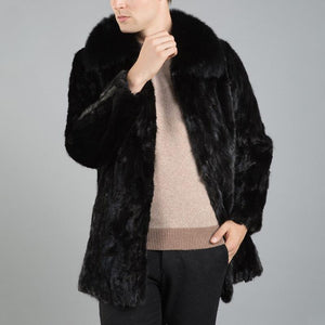 Faux Mink Fur Coat