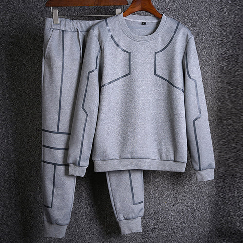 Autumn And Winter Round Neck Sports Sweater Suit