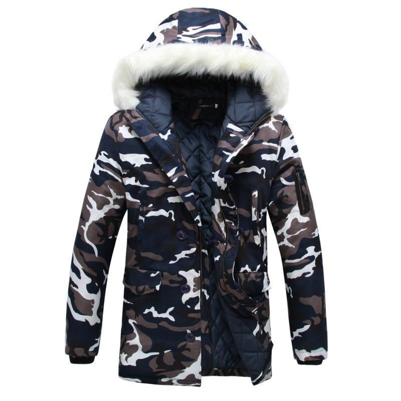 Thick Camouflage Jacket Men Overcoat