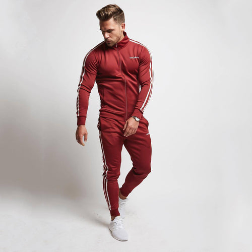 Sets Mens Gyms Sportswear Tracksuit